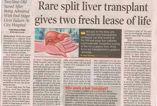 Rare Liver Transplant Gives Two Fresh Lease On Life