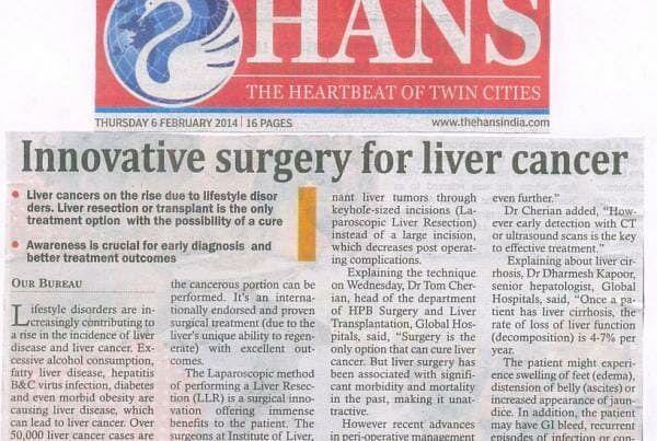 Innovative Surgery For Liver Cancer