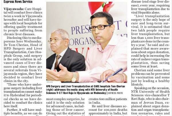 Care Hospital To Conduct Liver Clinics In City