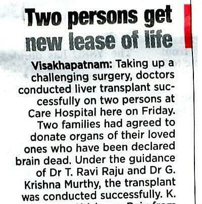 Two Persons Get New Lease On Life